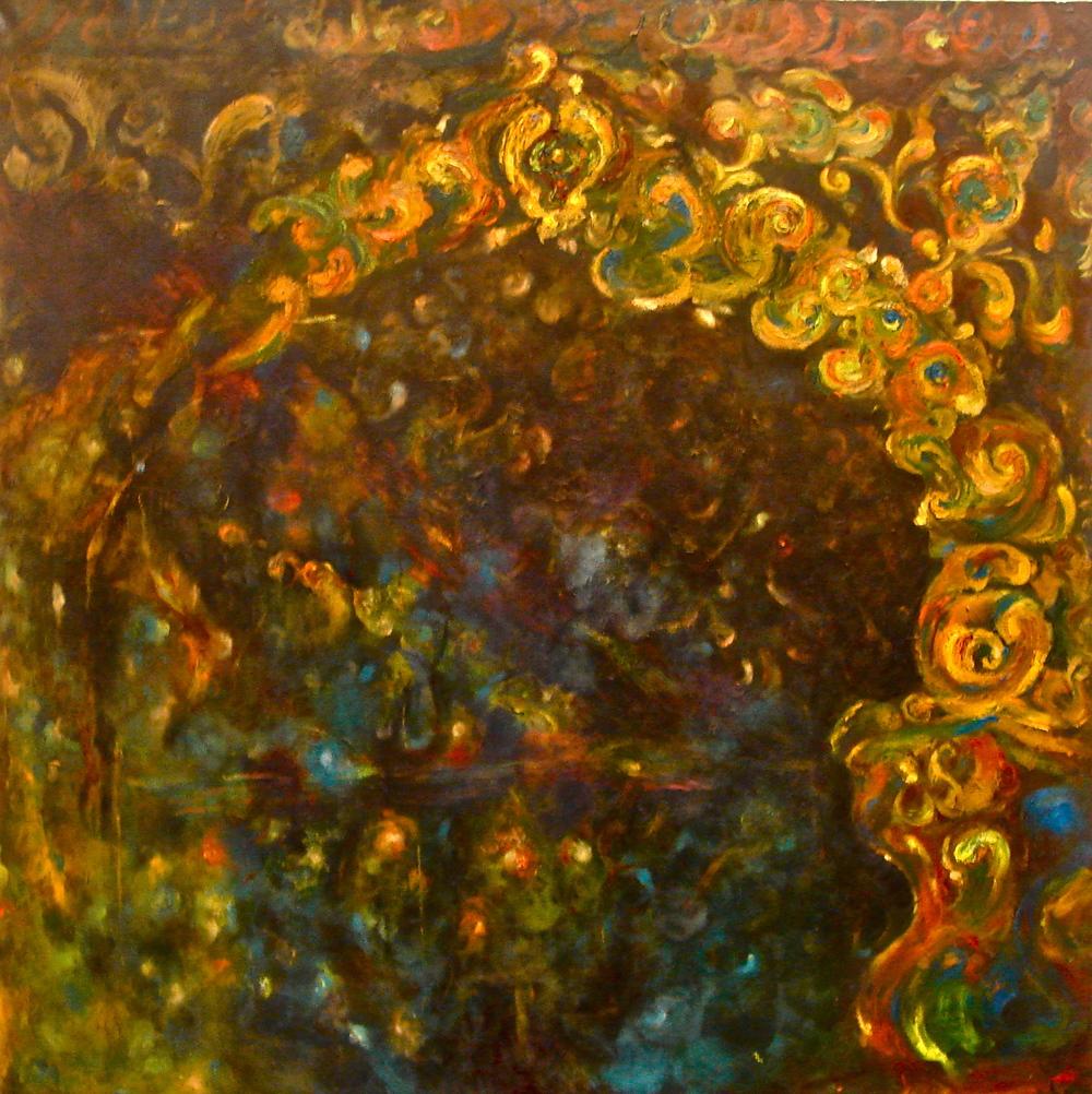 "Mehrab, oil on convas. 54""x54"", 2011"