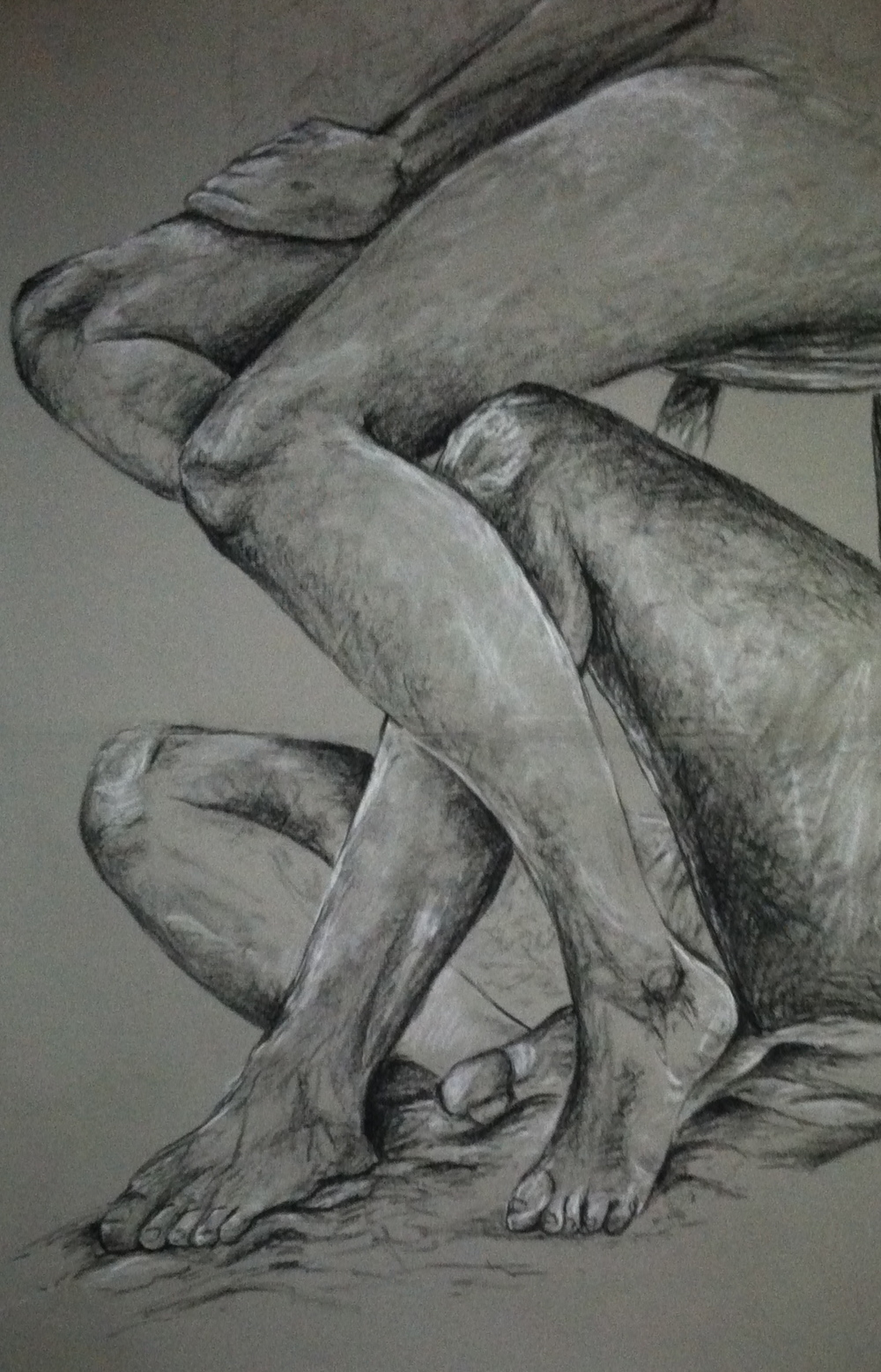 Heather Mawson, Intertwined, Charcoal on paper, Fall 2013, 36%22x48%22.jpg