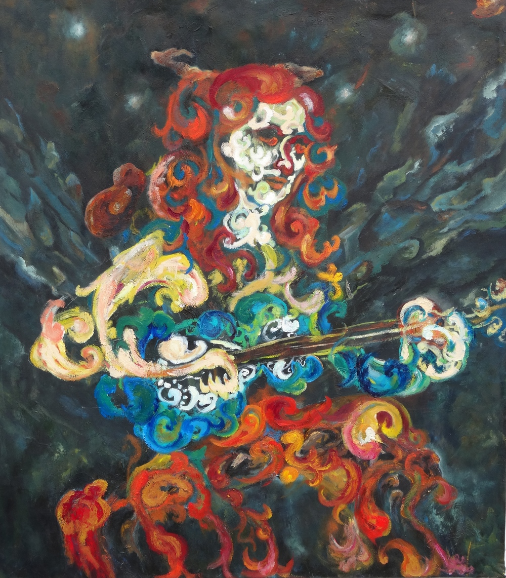 "Taar Player2015, oil, 48""x 42"""