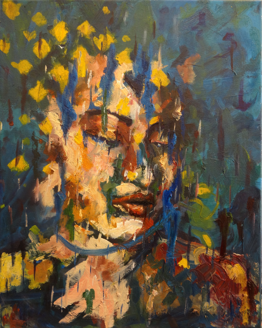Mansourkhani Roya, No-One IV, 2015, oil on canvas, 20%22x 16%22.jpg