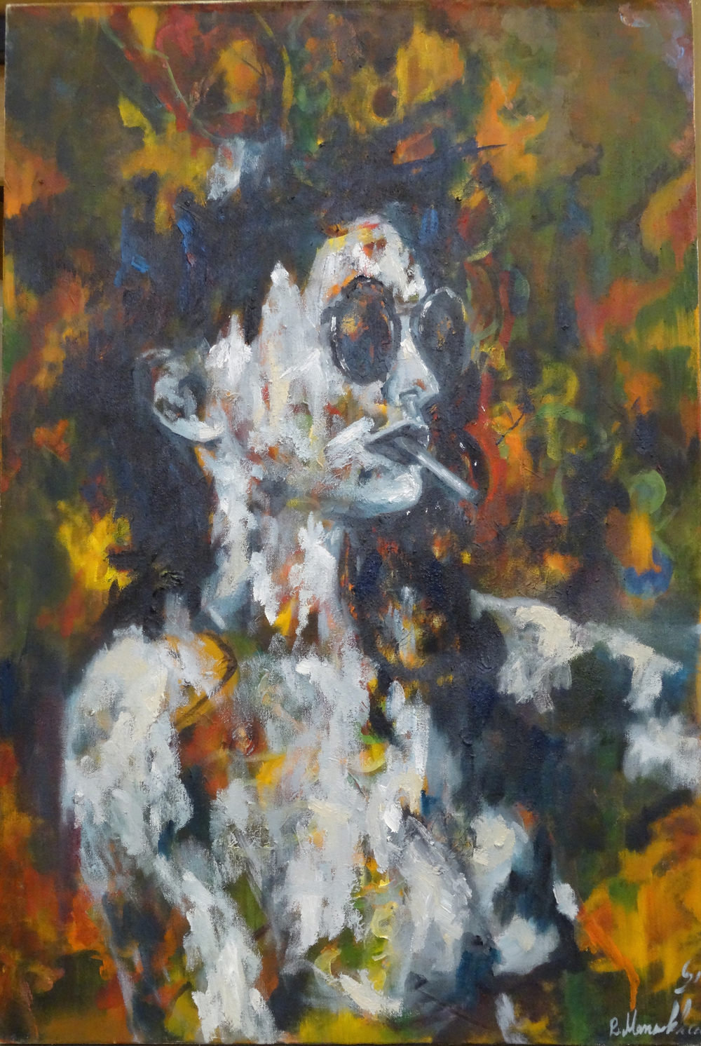 Mansourkhani Roya,No-One II , 2015, oil on canvas,  36%22x 24%22.jpg