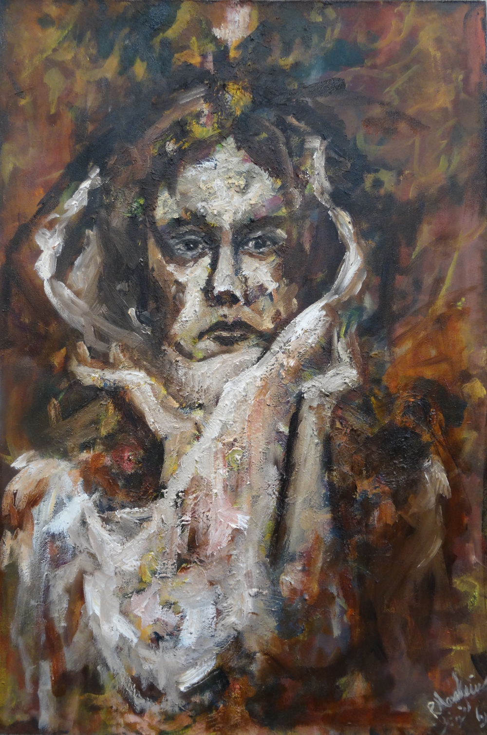 Mansourkhani Roya,No-One I , 2015, oil on canvas,  36%22x 24%22.jpg