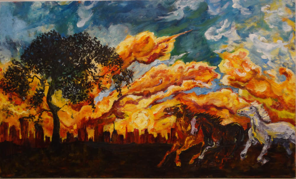 Mansourkhani Roya, Sky in Fire, 2015, oil on canvas,.jpg