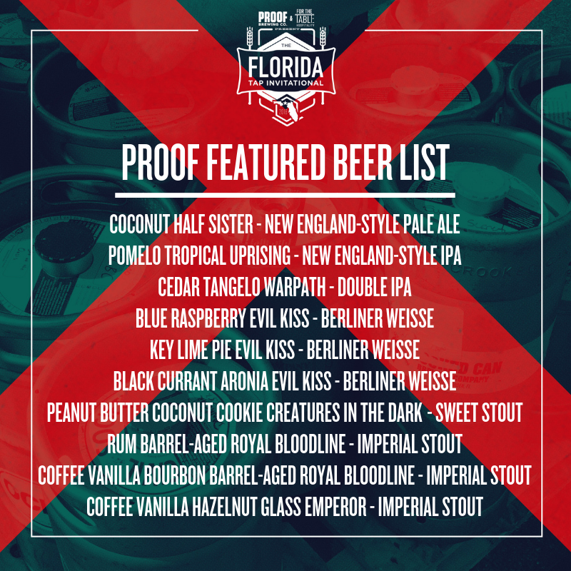 Beers included with festival ticket. *Draft list subject to change.