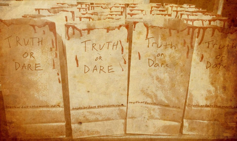 Truth or Dare Vomit bags, for the attending the Party!