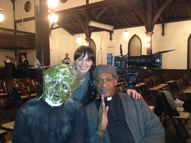 Tony Todd on the set of Live-Evil
