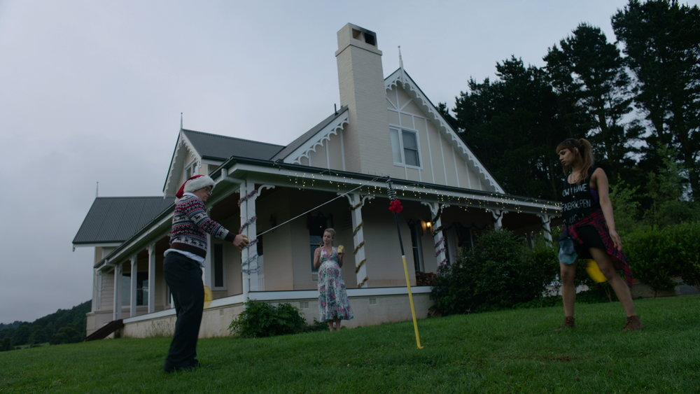 House Exterior Day Tennis - Red Christmas Photo by Douglas Burgdorff.jpeg