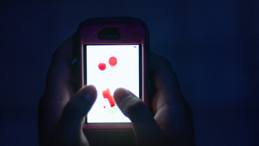 Phone with blood - Red Christmas Photo by Douglas Burgdorff.jpeg