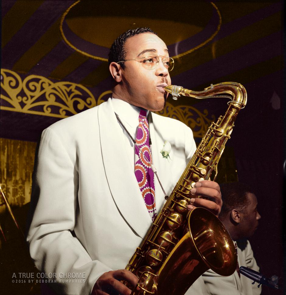 Jazz Sax Player, The Aquarium, NYC c. 1944,