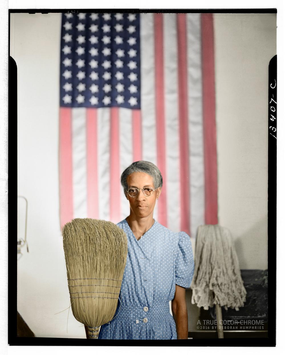 "Washington, D.C. Government charwoman ""American Gothic"""