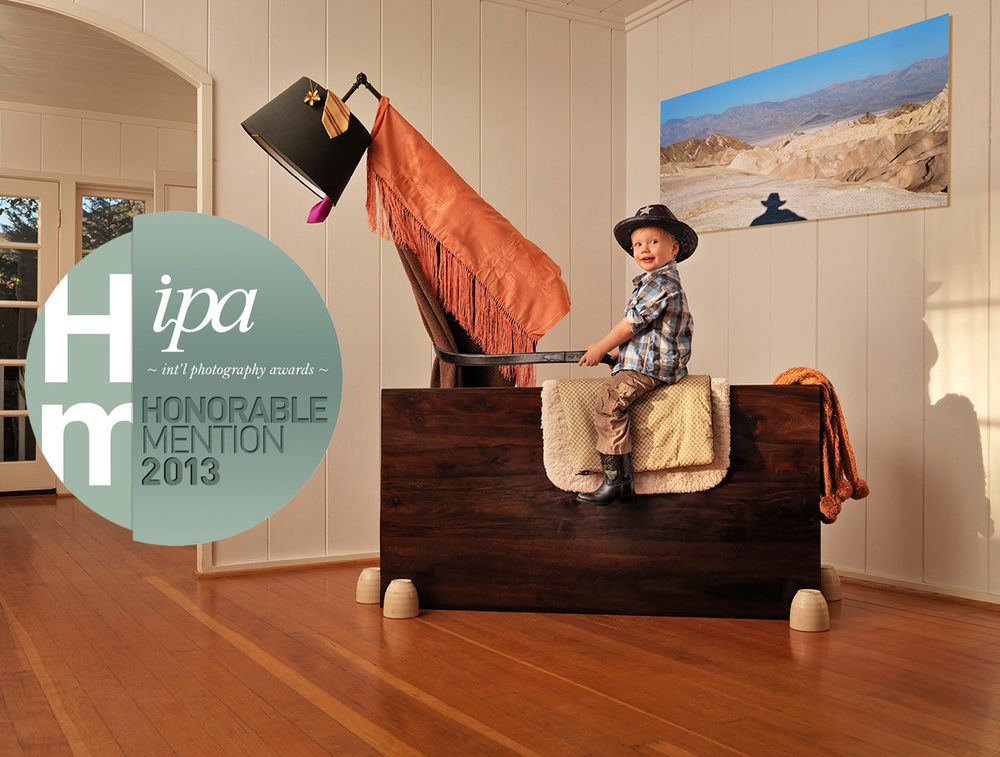 "The series ""Jenson Ray Thunder"" received an honorable mention at the 2013 International Photography Awards, chosen from nearly 18,000 submissions from 104 countries across the globe. IPA is a sister-effort of the Lucie Foundation, where the top three winners are announced at the annual Lucie Awards gala ceremony in New York City."
