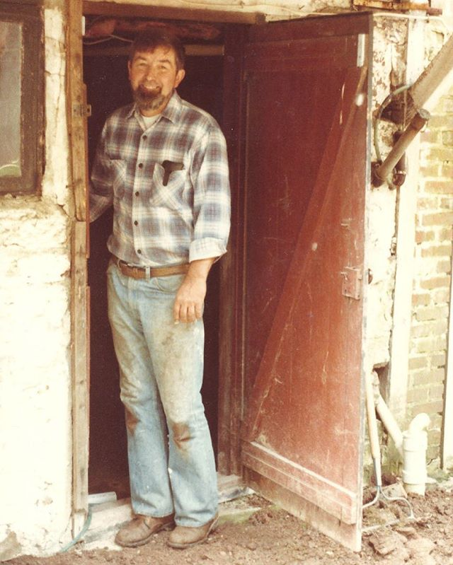 "Richard Micklewright, 1931-2018, my grandfather. Architect, engineer, furniture maker, woodturner, lumber-yard owner, and all around craftsman. I grew up around the furniture he made and it was a desire to be more like him that made me go into woodworking. May your memory be a blessing and may you find heaven stocked with affordably priced domestic hardwoods and not the ""shitty particleboard nonsense"" you complained about the last time we saw each other. ❤️"
