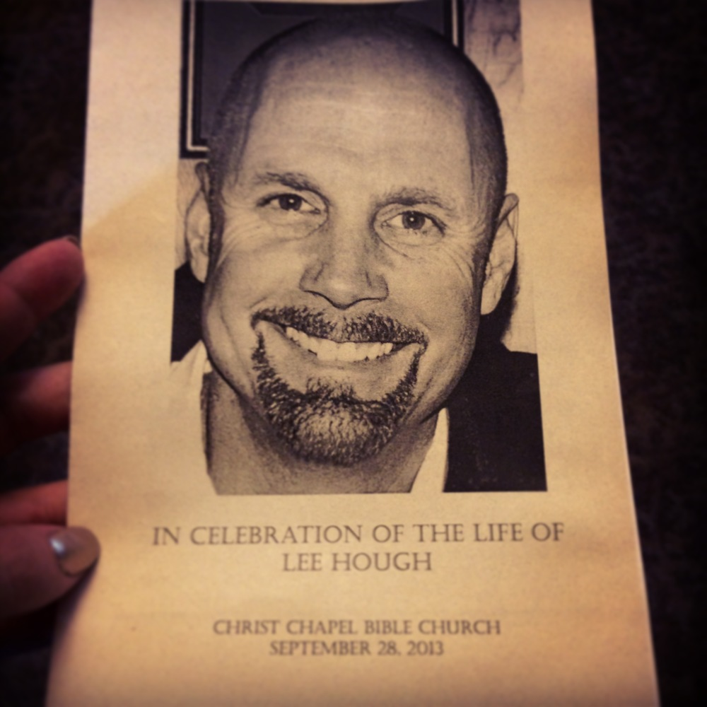From Lee's service last September.