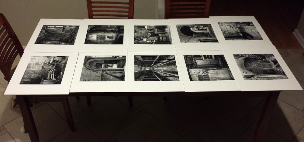 Matted prints ready for shipping