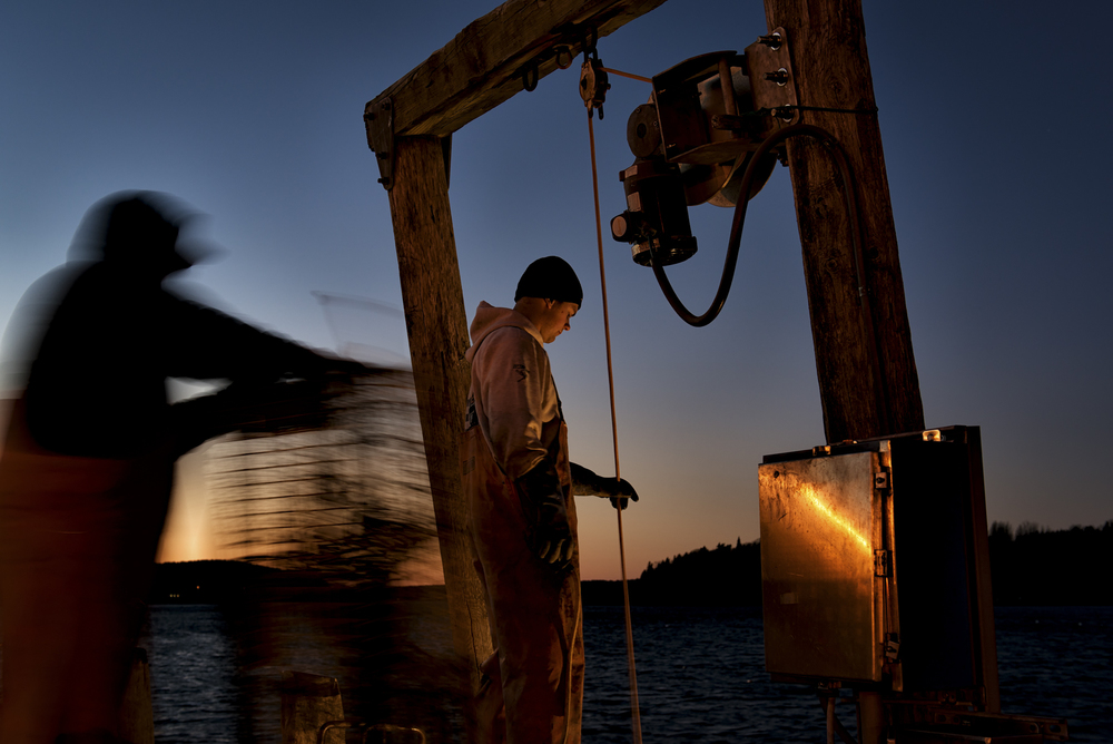 Sunset Lobstermen, Pier, Bar Harbor, ME