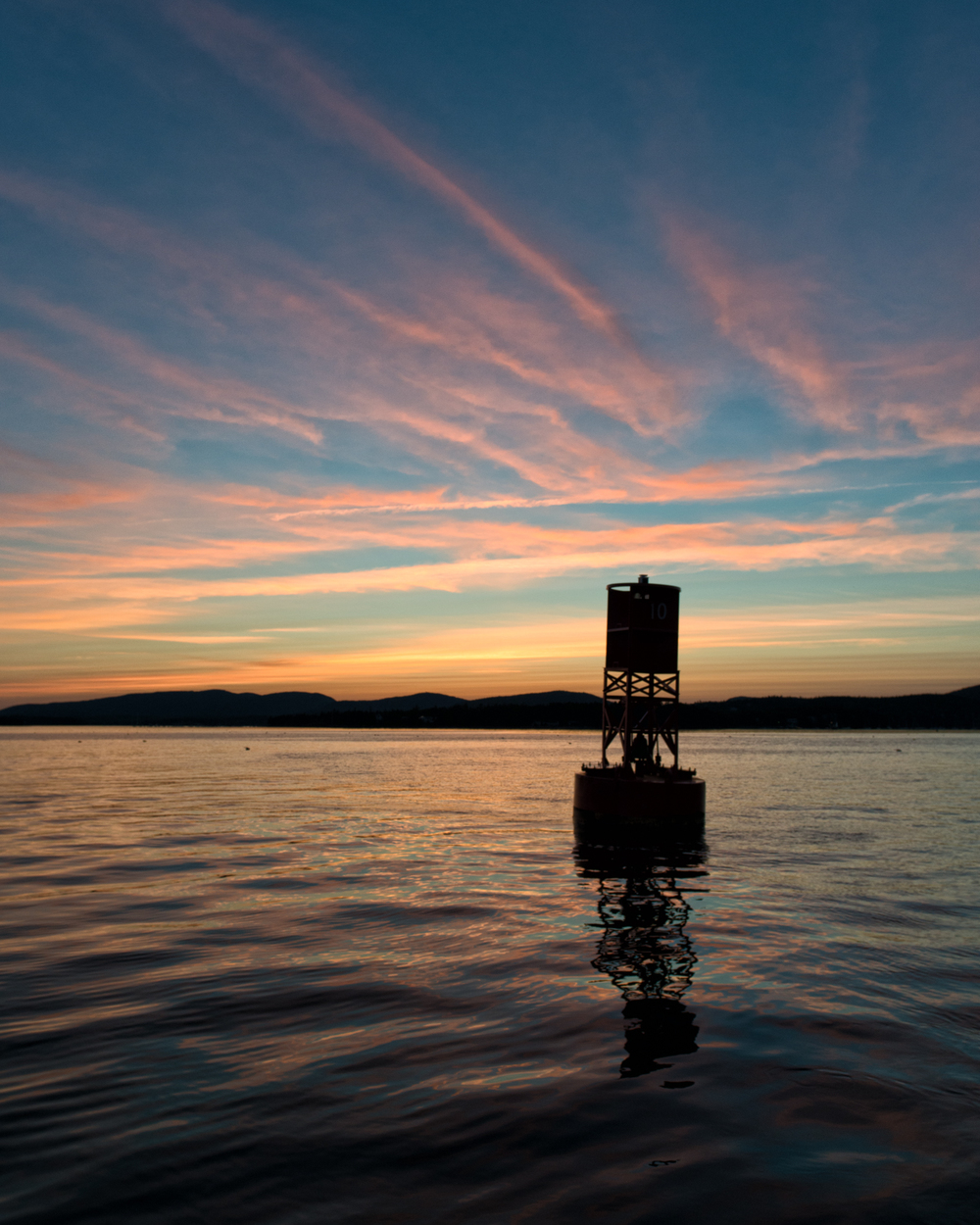Buoy At Sunset, Bear Island, Maine