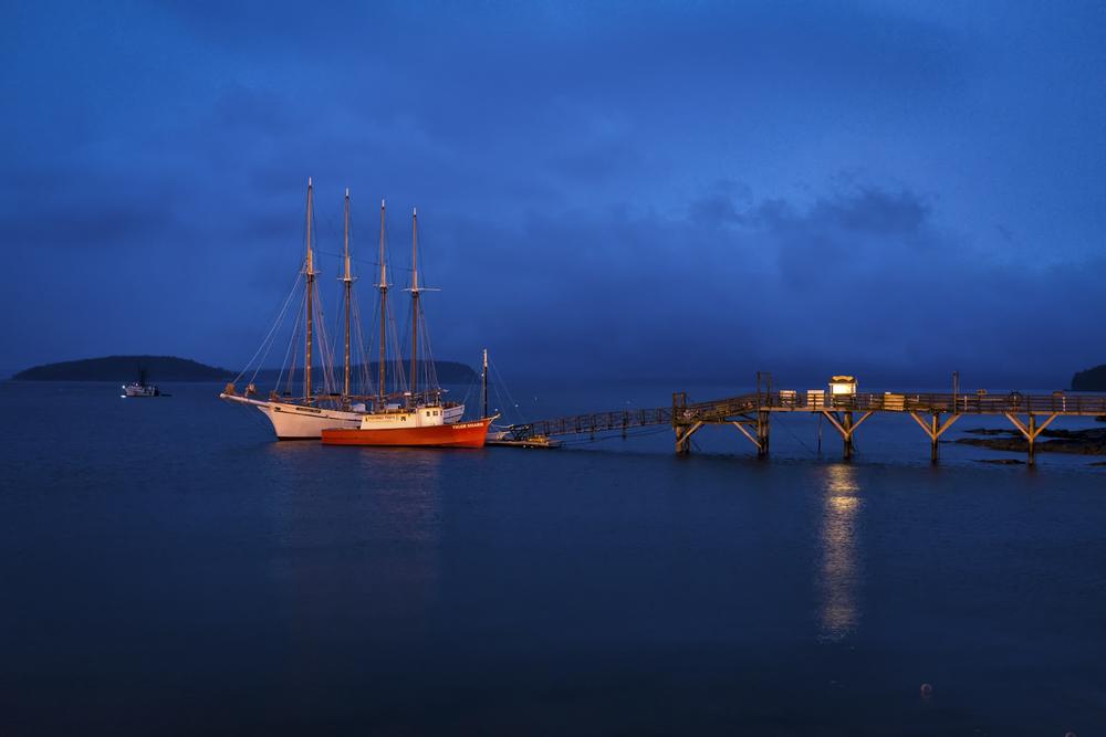 Margaret Todd, Bar Harbor Pier, Maine