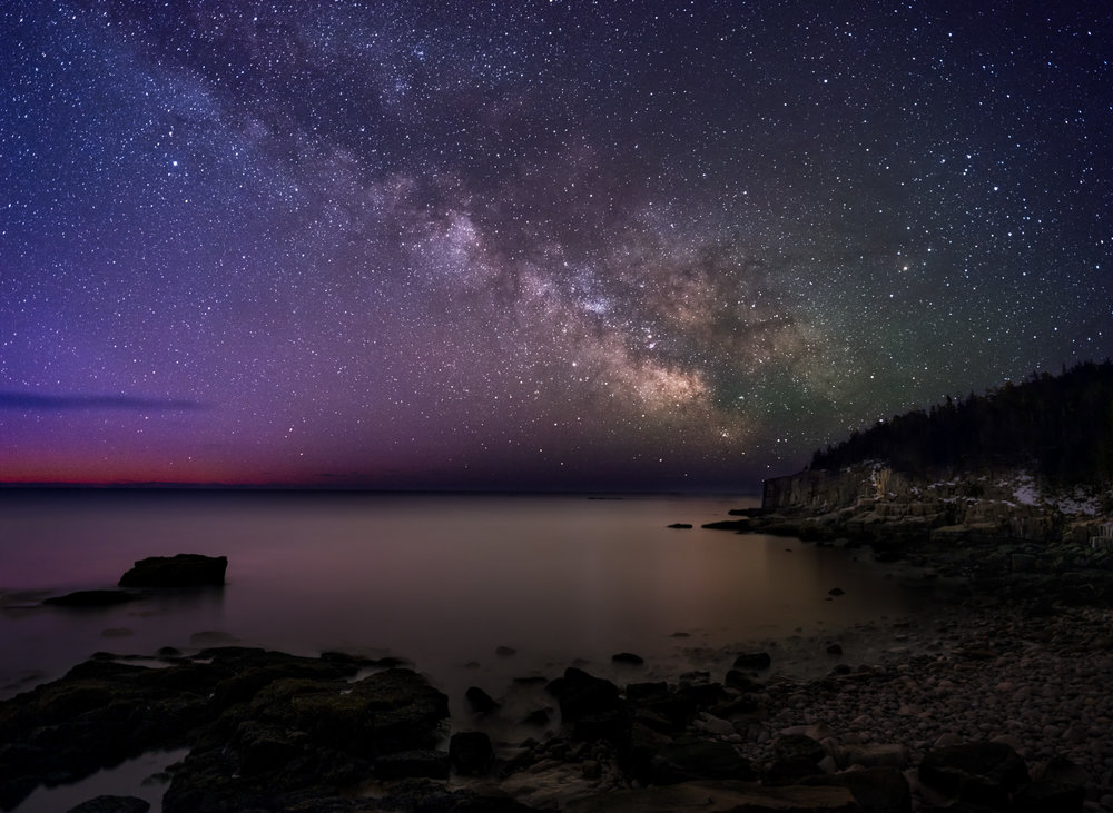 Milky Way, Otter Cliffs, Acadia National Park, Maine
