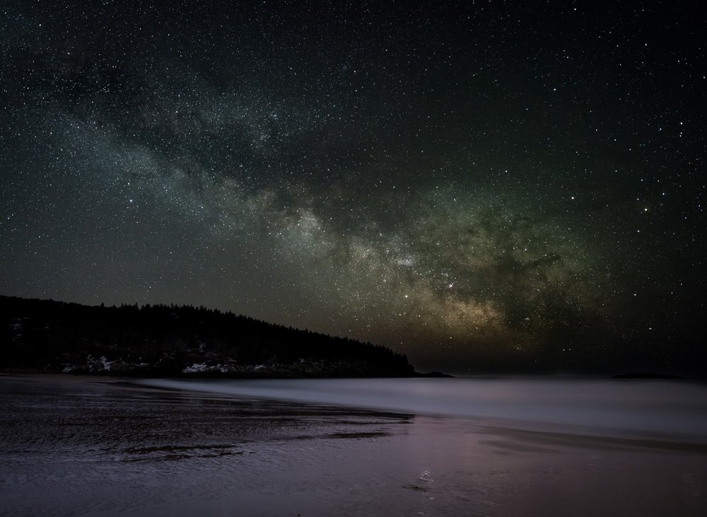 Milky Way, Sand Beach, Acadia National Park, Maine