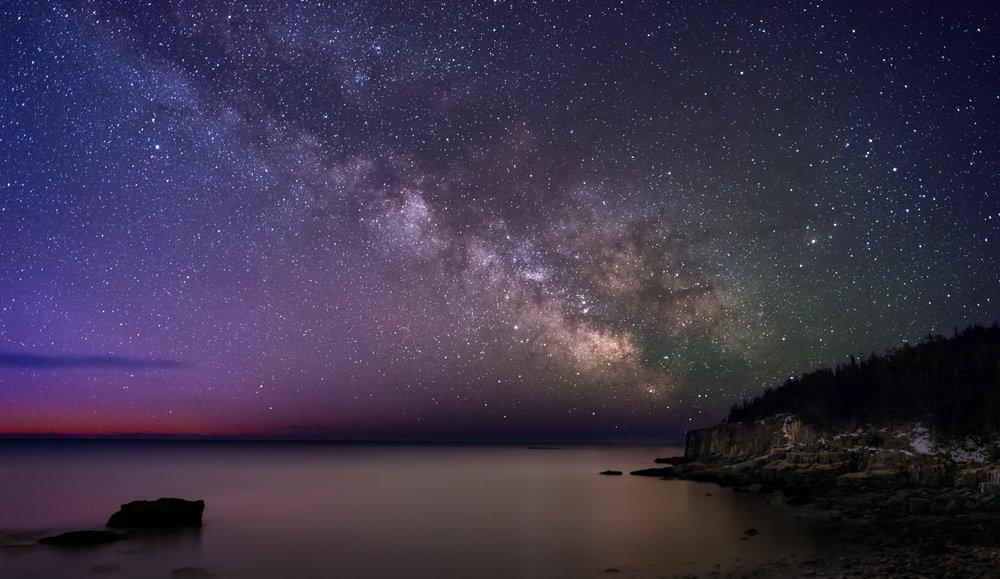 Milky Way,Otter Cliffs,Acadia National Park,Maine