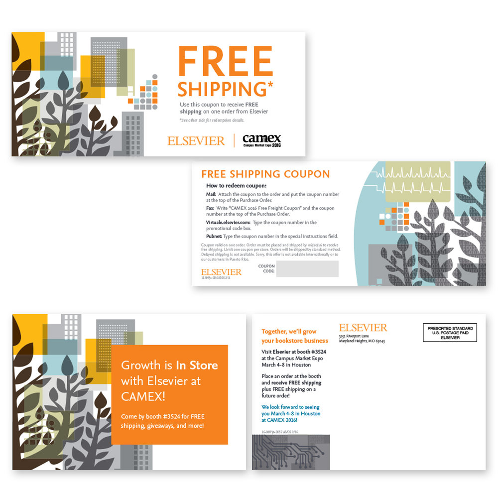 Booth coupon and postcard