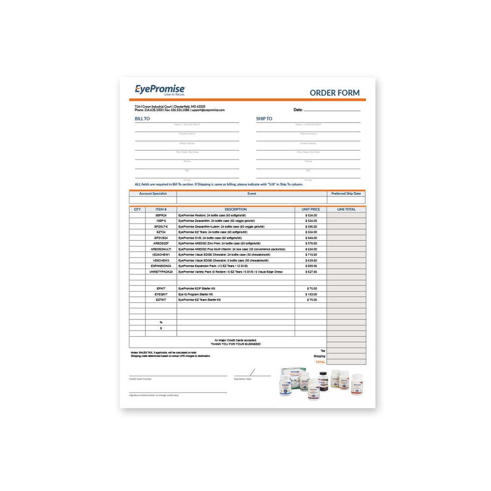 supplement order form