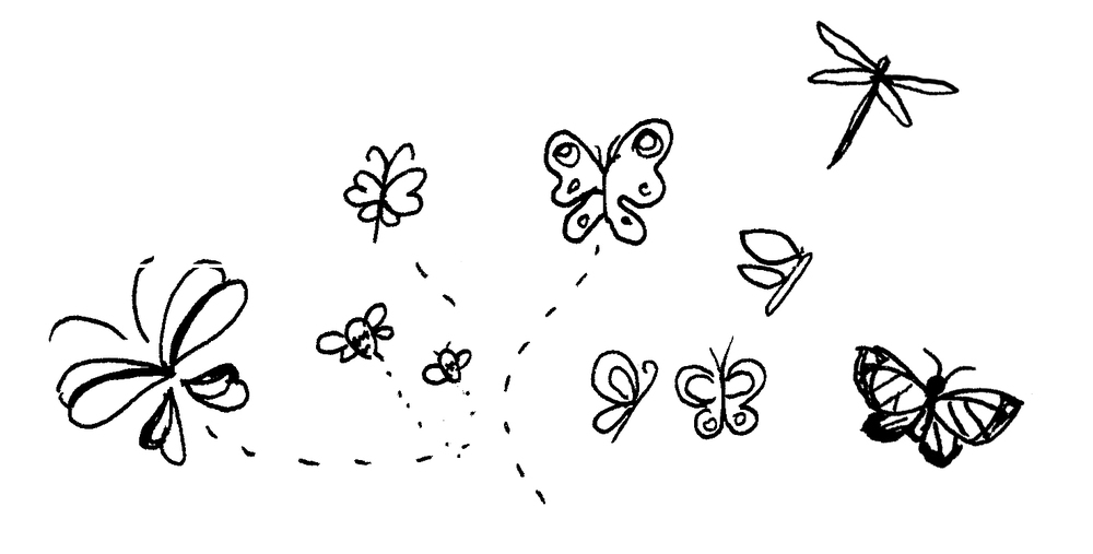 Butter Fly Doodles