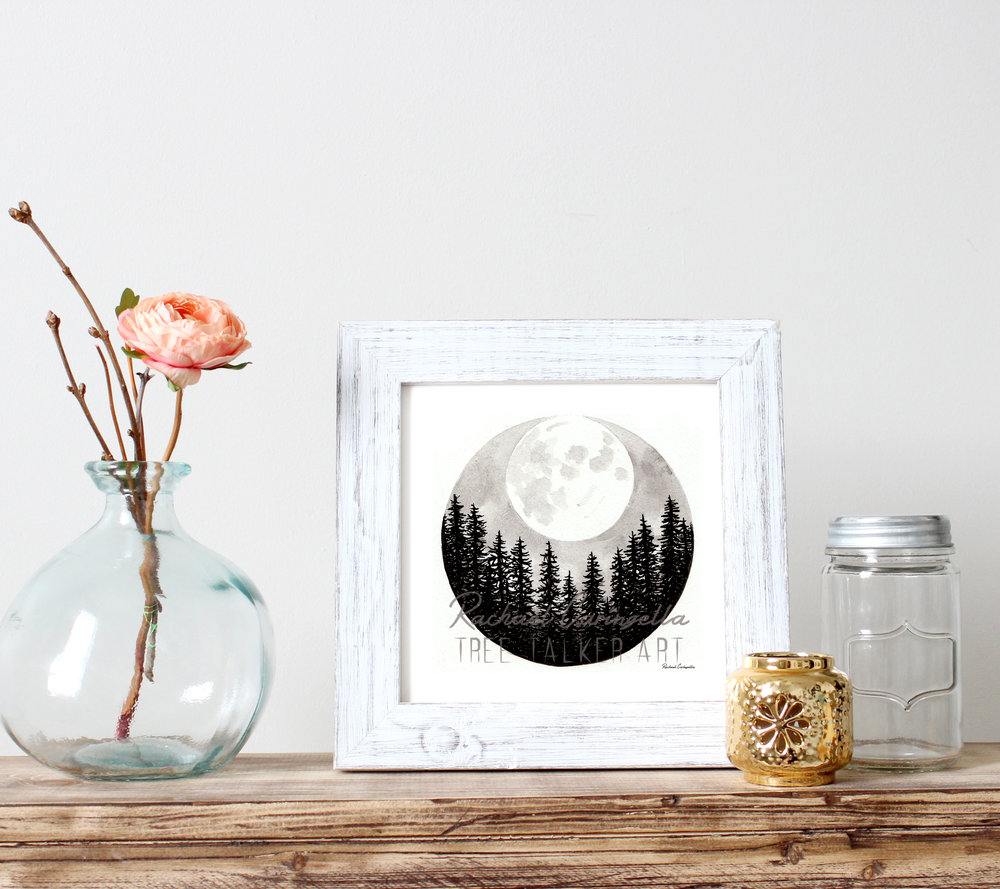 Super Moon Rising Art Print | Tree Talker Art