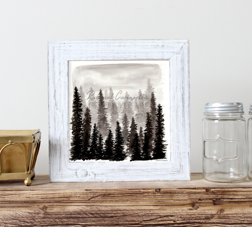 Misty Forest Art Print | Tree Talker Art
