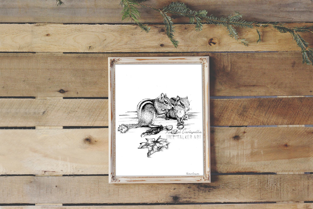 Squirrel Friends Art Print | Tree Talker Art