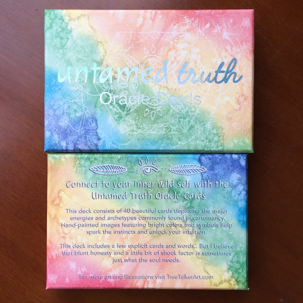Untamed Truth Oracle Deck Set | Tree Talker Art