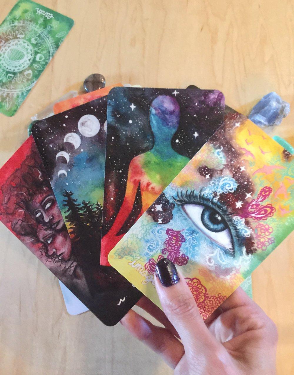 Untamed Truth Oracle Cards   Tree Talker Art