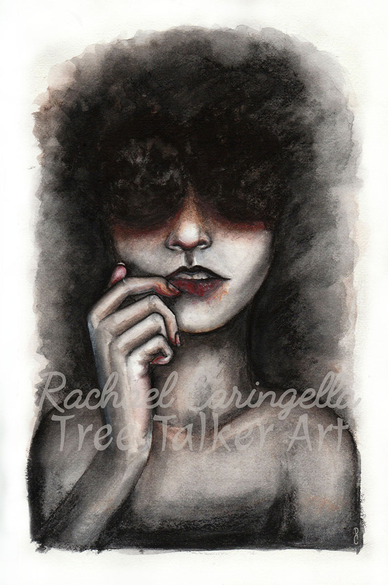 Lip Picker | Rachael Caringella Water Color | Tree Talker Art