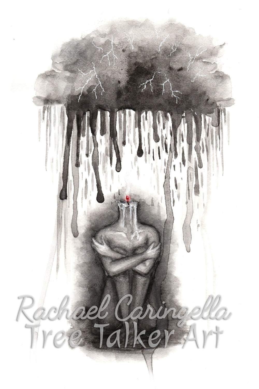 Depression | Rachael Caringella Watercolor | Tree Talker Art