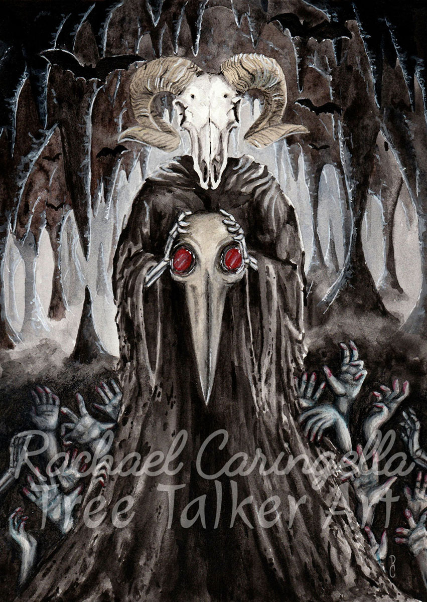 The Devil Card | Tarot Art | Rachael Caringella Watercolor | Tree Talker Art