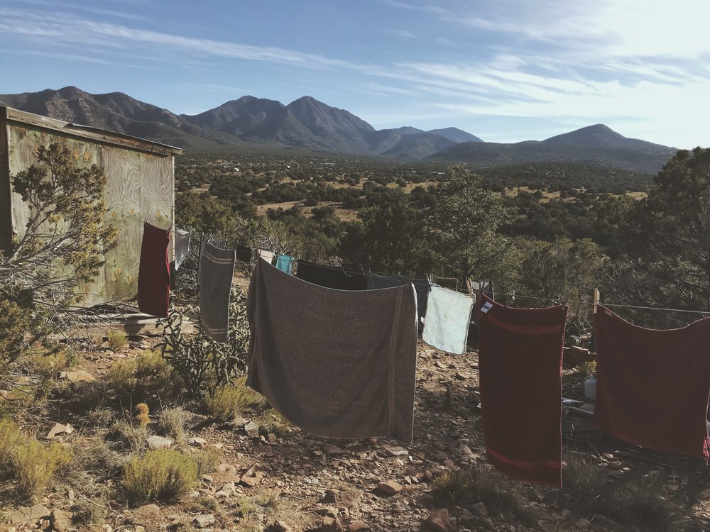 Clothes Drying in the sun | Off grid living | Tree talker