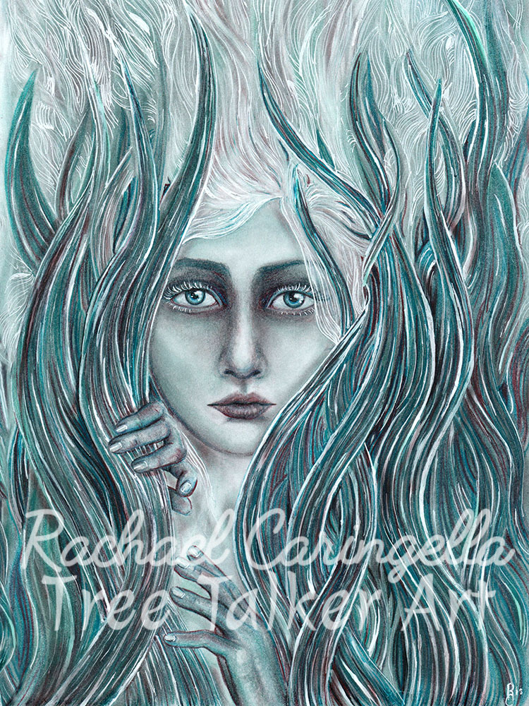 Mermaid Art | Tree Talker Art | Rachael Caringella