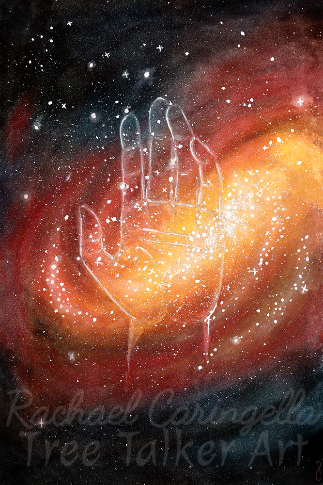 Universe in Your Hands Art | Tree Talker Art | Rachael Caringella
