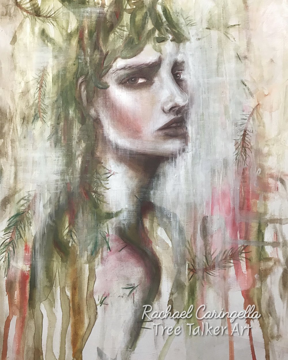 Restless Disdain | Tree Talker Art | Rachael Caringella | Mixed Media Art