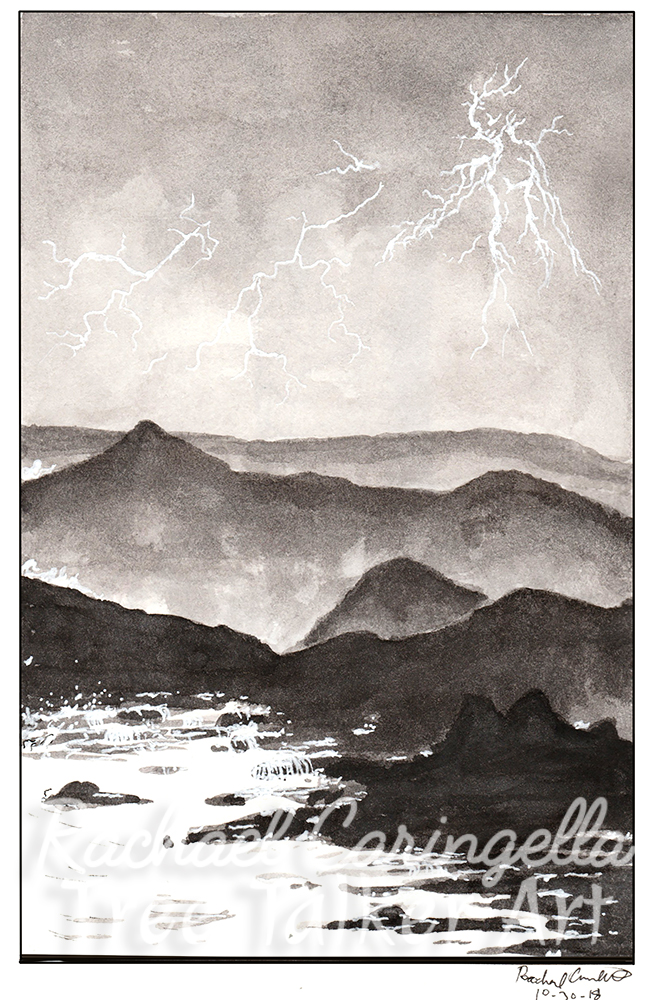 Lightning Inktober 2018 Illustration of Lightning Being