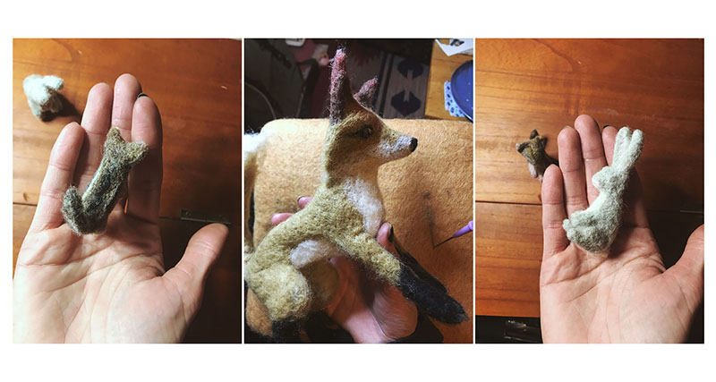 Felting Animals - Snowed In - Desert Off Grid Life - Tree Talker Art