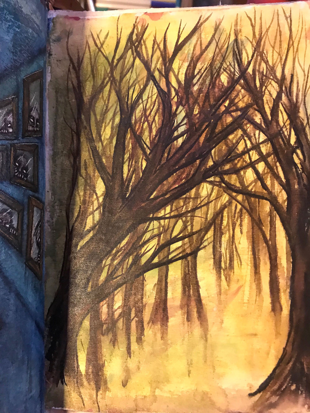 Tree Talker Art Blog | In pursuit of the numinous  | Facing the winds of Change | Tree Talker Art Journal Pages