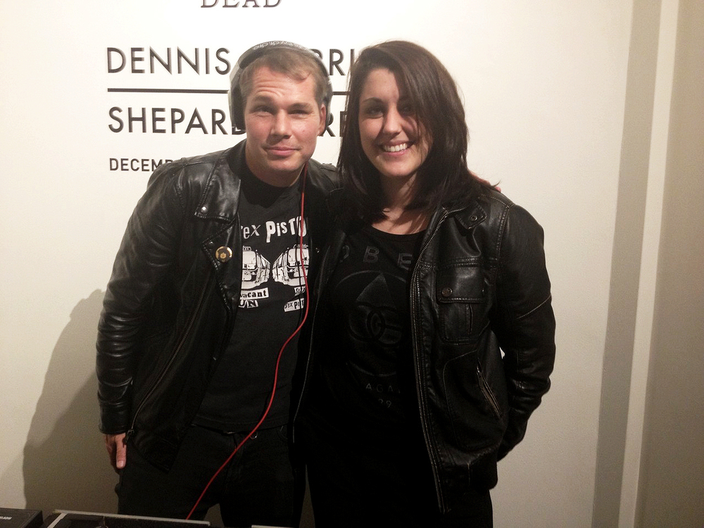 Photo from the December 13th gallery opening of SID: Superman is Dead, Shepard Fairey and Dennis Morris collaboration.