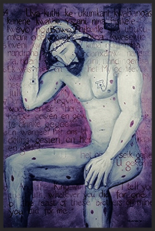 Man of Sorrows: Christ With AIDS by Maxwell Lawton (April 27, 1956 - September 16, 2006)