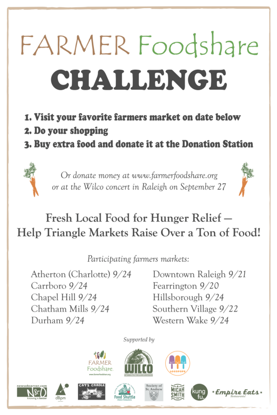Farmer Foodshare Challenge announcement