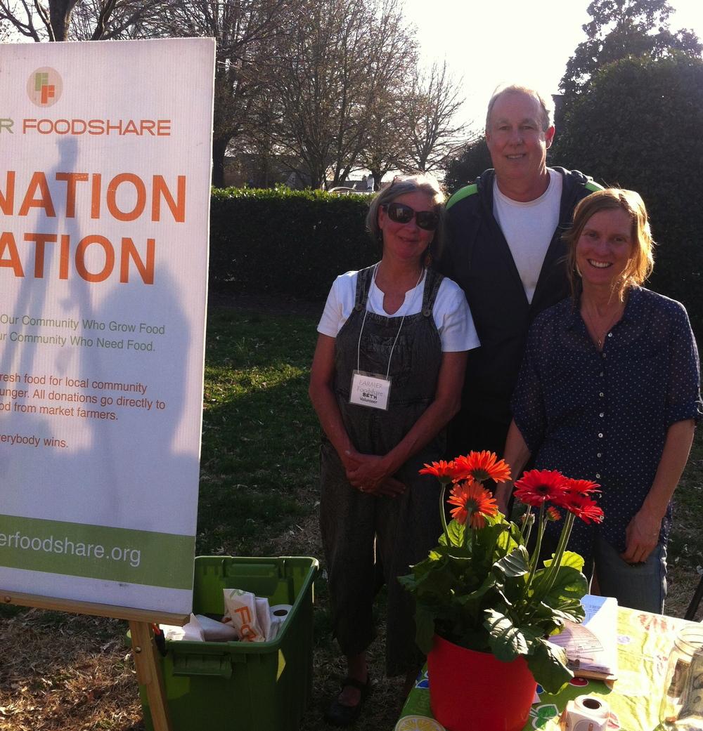 Beth, Ryan, and Katy at Fearrington Market Openeing