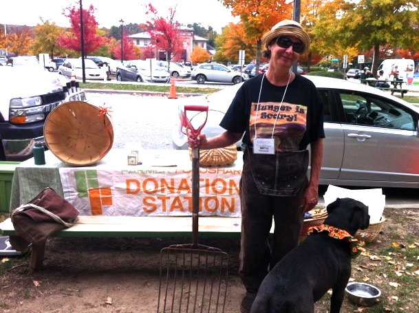 Beth and Lily get in the spirit for Halloween at the Southern Village Farmers Market