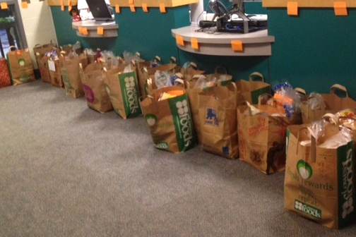 Fuel Up's bags to take home during the first week of their 2014 summer program