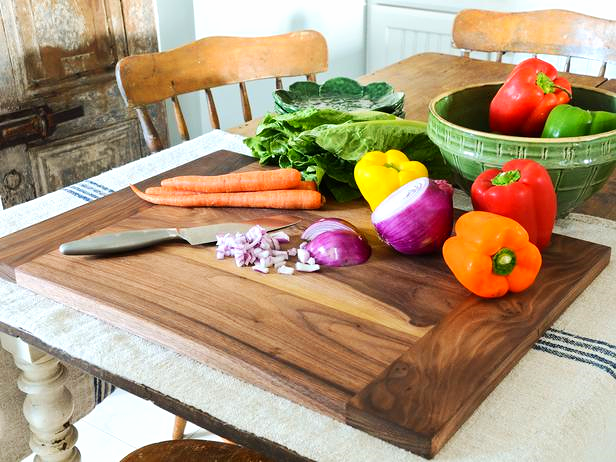 Locally Sourced, Hand Crafted Kitchen Ware Handmade wooden cutting board by made by local artist and woodworker, Kal Fadem. This piece is made from locally sourced wood and sustainably made in Durham. Provided by: Kal Fadem