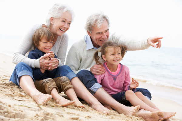 Granparents and children on beach.jpg